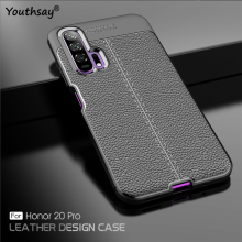 For Huawei Honor 20 Pro Case Luxury Fundas PU Leather Silicone Cover