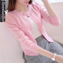 2019 Spring autumn sweater cardigan dress sunscreen shawl thin coat a long sleeved sweater sweater girl summer air conditioning