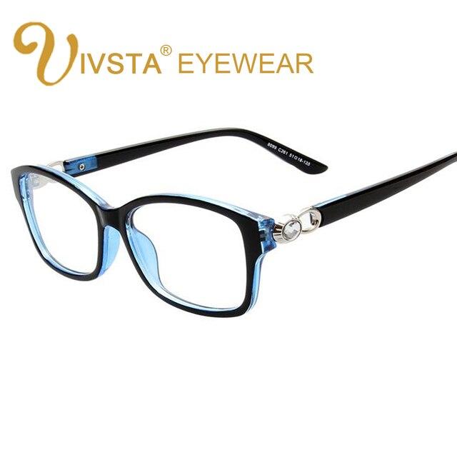 IVSTA Rhinestone Glasses Diamond Decoration Fashion Women Eyeglasses Clear glasses Spectacles transparent frame optical Flower