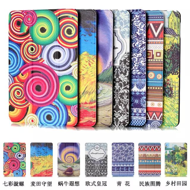 Printed cover case Stand cover for Amazon kindle Fire 7 new 2015 version 7 tablet smart