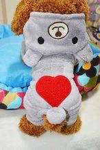 FG21 NEW arrival Pet clothes dog fleece overall dog warm Coverall dog pants sweet dog clothes