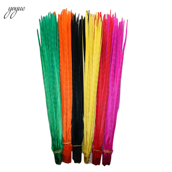 Wholesale 100Pcs/Lot 55-60CM 22-24Inch Ringneck Pheasant Tail Feathers Wedding Decorations Decor Feathers for Crafts Natural - DISCOUNT ITEM  21% OFF All Category