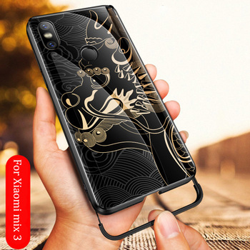 For Xiaomi Mi Mix 3 case dragon pattern tempered glass Aixuan Explosion-proof Cover For Xiaomi mix 3 mix3 shockproof Glass case