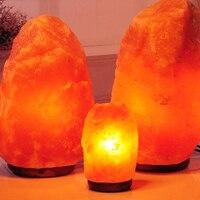 5pcs/lot Himalayan Natural Salt Rock LampTherapy Natural Mineral LED Lamp Handmade Crystal Salt Night Light for Mental Healing