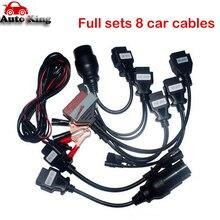 Сумасшедший купить! OBD2 кабель для vd ds150e cdp multidiag pro+ tcs cdp wow snooper Полный 8 шт. автомобильные кабели obd2 диагностический инструмент