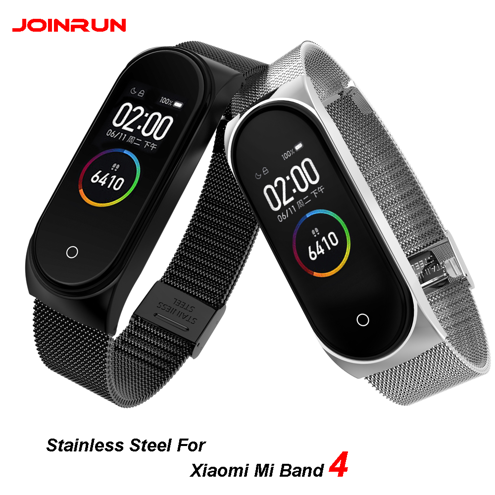 JOINRUN Mi Band 4/3 Wrist Strap Metal Screwless Stainless Steel For Xiaomi Mi Band 4/3 Strap Bracelet Miband 4/3 Wristbands(China)