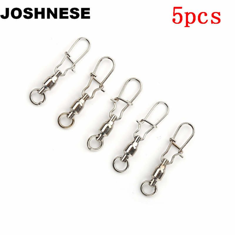 Sports & Entertainment Joshnese 5pcs Silver 2/3/4/6# Ball Bearing Swivel Crane Duo Lock Snap Trolling Rigging Fishing Hook Luxuriant In Design