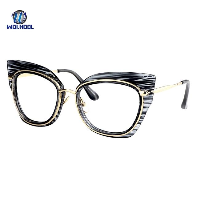 cbc3fb38d6 Women Men Popular Cat Eye Shape Metal Sunglasses Glasses Frame Trendy  Unisex Spectacles Eyeglass Frame