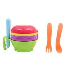 Food Grinder Nine-piece Set Baby Food Supplement Grinding Set Baby Fruit and Vegetable Grinding Bowl Food conditioner
