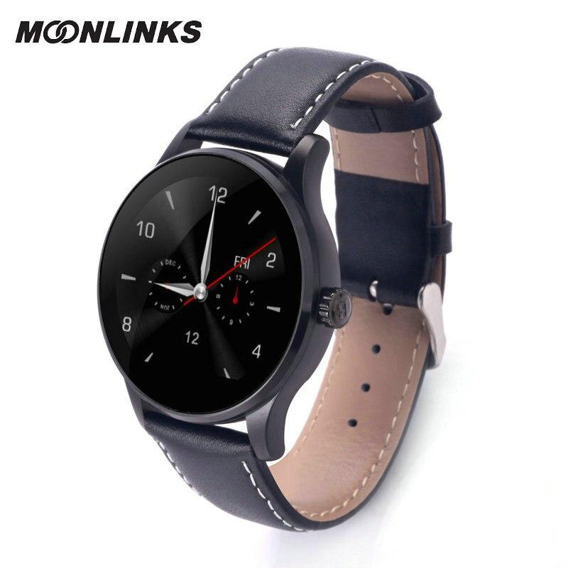 Moonlinks K88H intelligente elettronica smat vigilanza di modo donne relogio cinturino in pelle smartwatch astuto della vigilanza del android celular