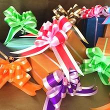 10 шт./лот, Рождественская подарочная упаковка, подарочные ленты, ленты для украшения Нового года, дня рождения, вечеринки, свадебные украшения автомобиля