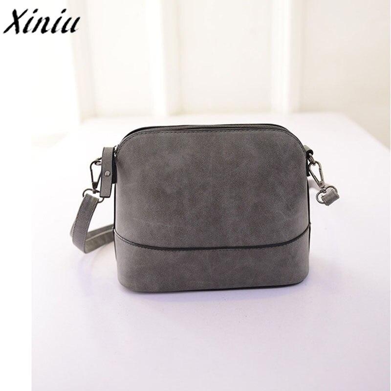 5ab6f1f88b Womens Bag Scrub Leather Zipper Shoulder Bag Frosted Pu Leather Handbag  Vintage Satchel Messenger Bag Bayan