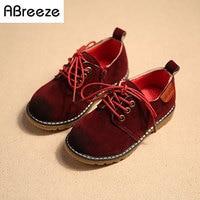 2016 Primavera nuovi bambini scarpe ragazze ragazzi stile Vintage in pelle di Moda Traspirante scarpe da ginnastica per bambino ragazzo scarpe casual