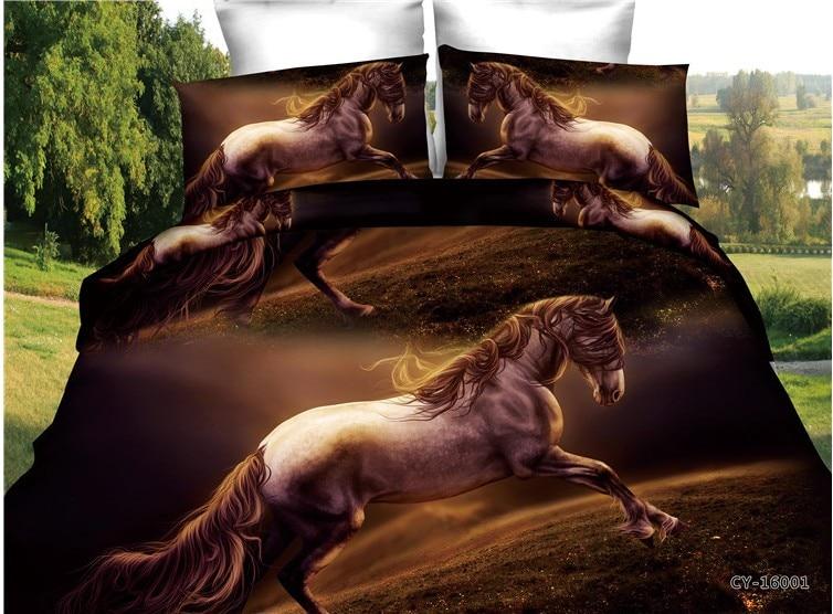 3d Running Horse Bedding Sets Bedspread Quilt Duvet Covers