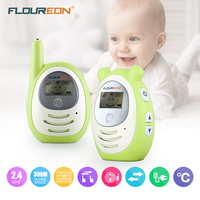 FLOUREON Digital Baby Phone Set Portable Cute Baby Monitor Wireless Transmission Radio Nanny Digital Alarm Bebe