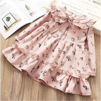 YPY1880934 2018 Spring Baby Girl Dress Fashion Girls Dress Animal Girls Princess Dress Baby Dress Girls Clothes Kids clothes