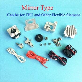 Mirror Type Direct Drive All Metal Titan Aero Extruder V6 heatsink Full Kit for 1.75mm TPU Flexible Filament Prusa I3 3D printer