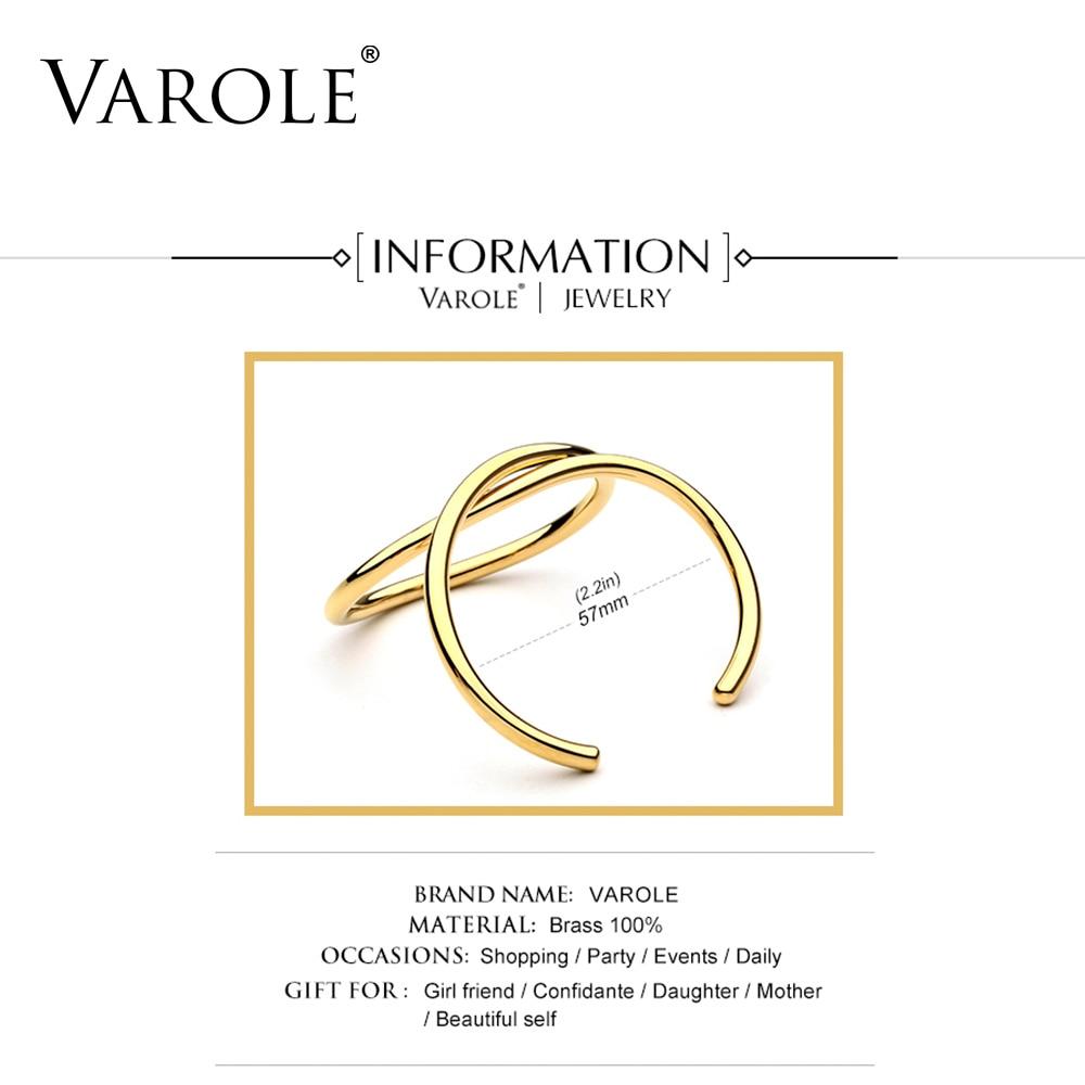 VAROLE Einfache Linien Übertrieben Manschette Armbänder & Armreifen - Modeschmuck - Foto 4