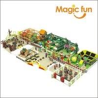 Волшебный весело крупных коммерческих синтетических Парк развлечений батут и веревочный курс детская мягкая игровая indoor Детские площадки