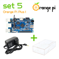 Orange Pi Plus  SET5: Orange Pi Plus + Power Supply +Transparent Acrylic  Case  Support Ubuntu, Debian Beyond Raspberry
