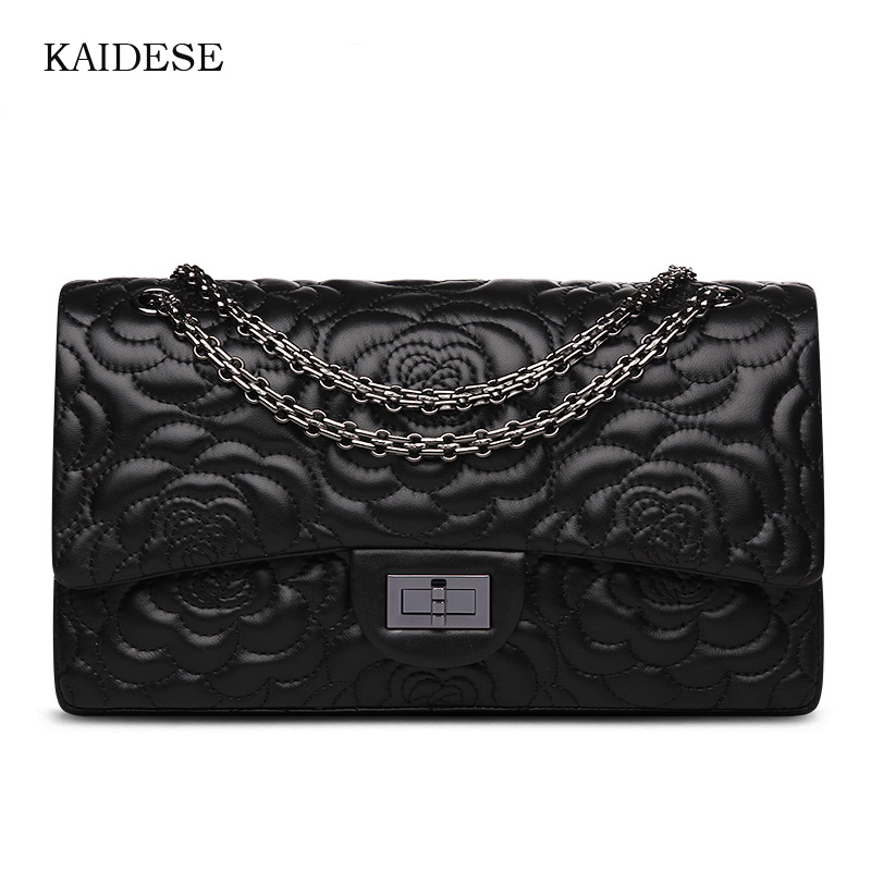 Фотография KAIDESE single-shoulder flower sheepskin head layer female bag of European and American fashion chain slanted handbag bag
