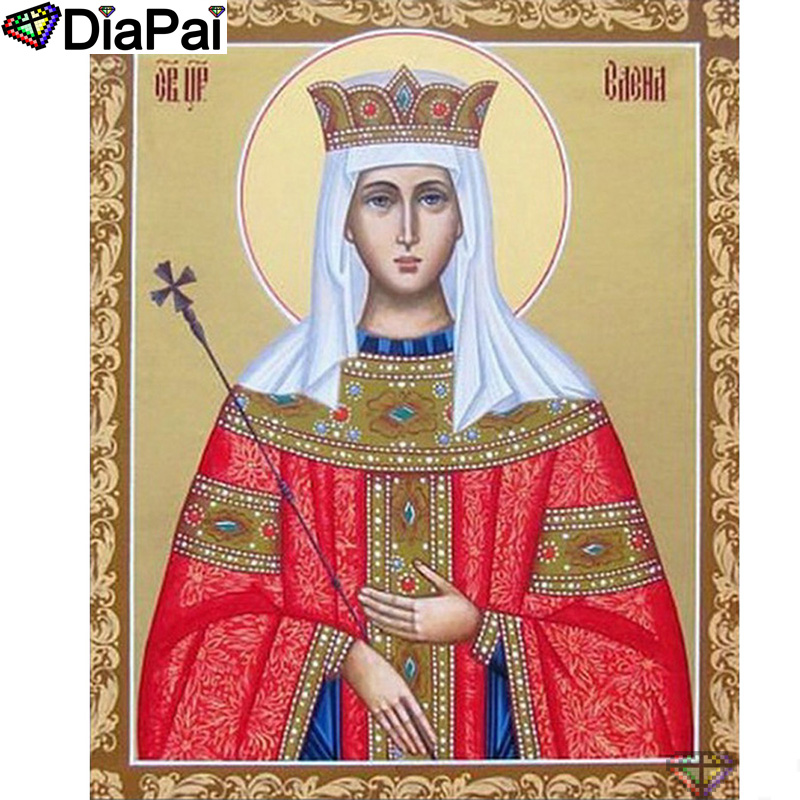 "DIAPAI 5D DIY Diamond Painting 100% Full Square/Round Drill ""Religious figure"" Diamond Embroidery Cross Stitch 3D Decor A22815(China)"