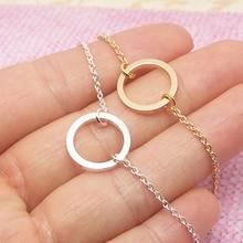 Изящное маленькое ожерелье в виде кармы вечности, подарок дружбы, простое круглое ожерелье-чокер с подвеской, украшения для выпускного