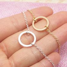 Dainty Small Eternity Karma Necklace Friendship Gift Simple Round Circle Charm Choker Necklace Pendant Graduation Jewelry Women(China)