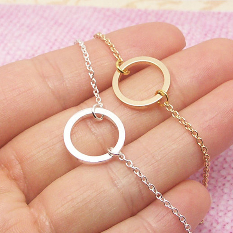 Dainty Small Eternity Karma Necklace Friendship Gift Simple
