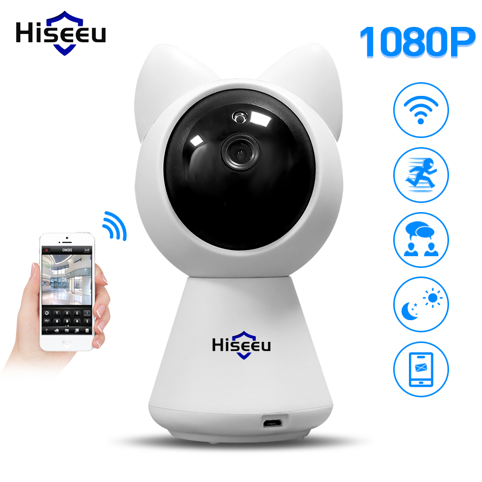 Hiseeu 2MP Smart IP Camera 1080P Wi-Fi wireless Webcam P2P home security CCTV network baby monitor two way audio night vision 720p ip camera wi fi pan tilt baby monitor wireless network security cctv camera plug and play two way audio day night hiseeu