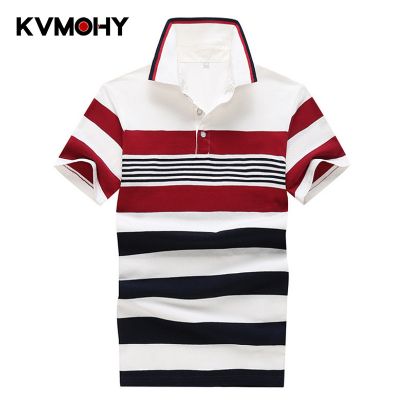 Men   Polo   Shirt New Summer Casual Cotton Men's   Polos   Shirts Male Camisa High Quality Striped Tops&Tees Clothing