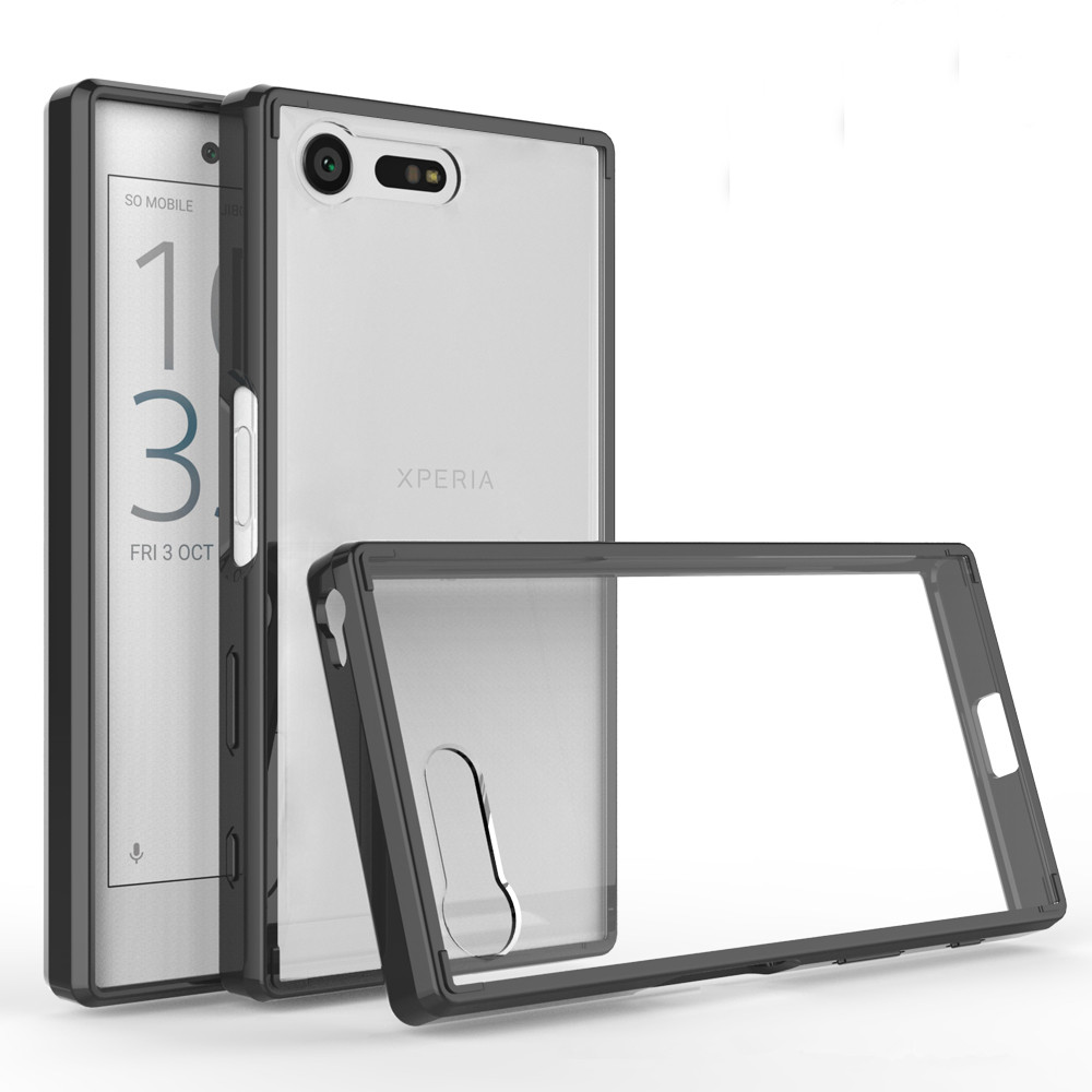 US $3 4  Soft Silicon TPU/PC Case For Sony Xperia X Compact Fundas Coque  Shockproof Crystal Clear Shell Hard Back Cover For Sony F5321-in Fitted  Cases