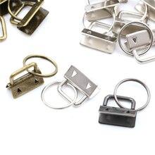 10 шт./лот, аксессуары для сумок, брелок для ключей, оборудование 25 мм, брелок для ключей, разъемное кольцо для наручных браслетов, хлопковый зажим для хвоста, 3 цвета