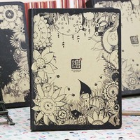 1PCS Little X S Secret Diary Series Creative Lovely Book Hardface Copy Notebook Notepad Vintage Thick