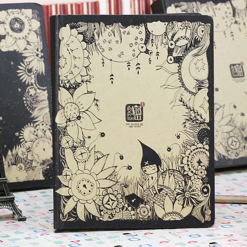 1PCS Little X's Secret Diary Series Creative Lovely Book Hardface Copy Notebook Notepad Vintage Thick Color Pages Of This Diary футболка little secret