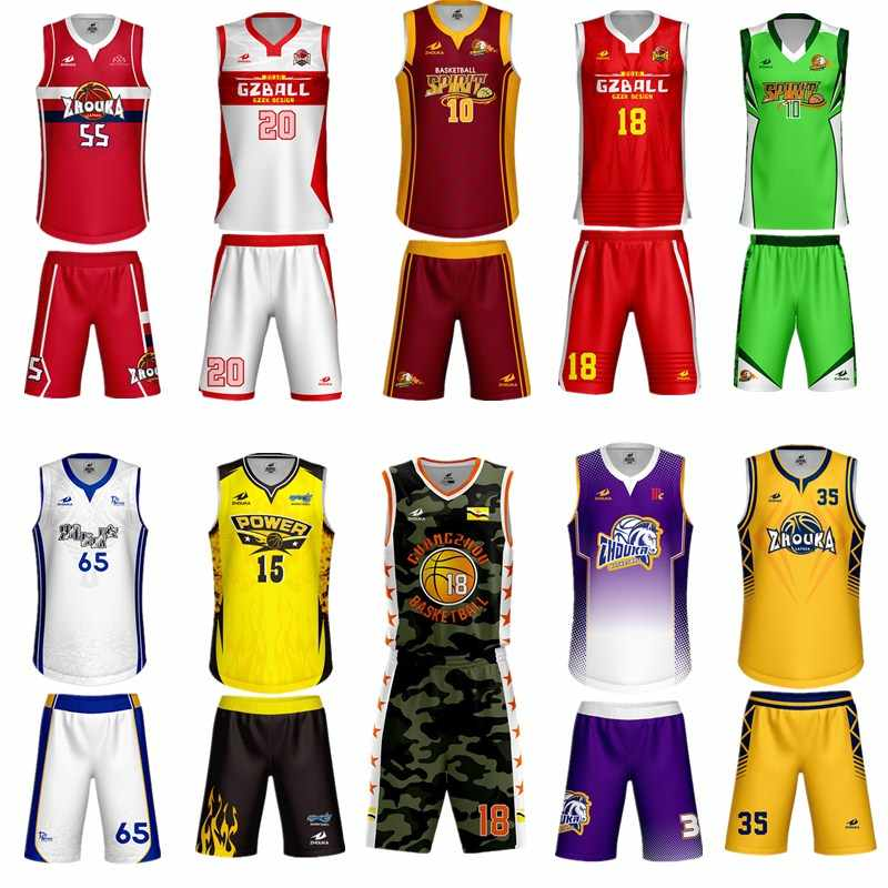 Custom Name + Number Kids & Adult College Basketball Jerseys USA Throwback Basketball Jersey Youth Cheap Basketball Uniforms Set