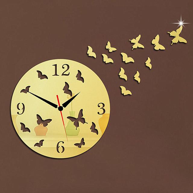 New Arrival,DIY Creative 3D quartz math wall clock decoration living room stickers clock home decor Free shipping.