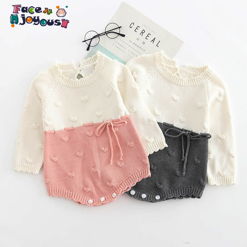 Knitted Baby   Rompers   Autumn Winter Baby Girl   Romper   Long Sleeve Newborn Baby Clothes Infant Boys   Romper   Baby Jumpsuit Overalls