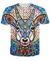 Mujeres hombres tops tee Cosmoctolope Camiseta 3d colores vibrantes un antílope trippy estilo t camisa ropa de moda de verano t-shirt