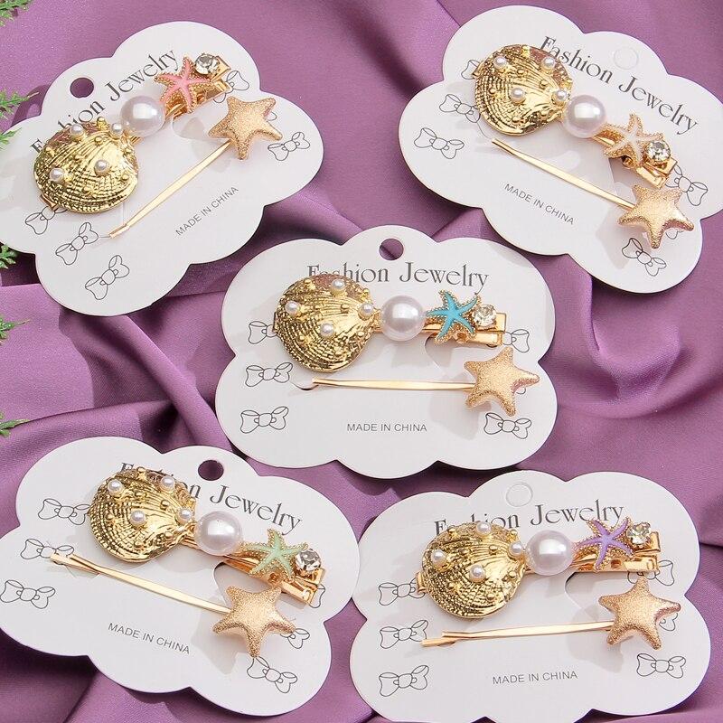 ZOSHI-pasador de pelo con perlas de imitación para mujer, 2 uds., joyería coreana, sombreros de niña, Clip dorado, horquillas, accesorios para el cabello