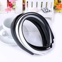High quality ABS 15mm Black/White Plain Lady Plastic Headband WITHTeeth DIY Resin Hair accessories Headwear