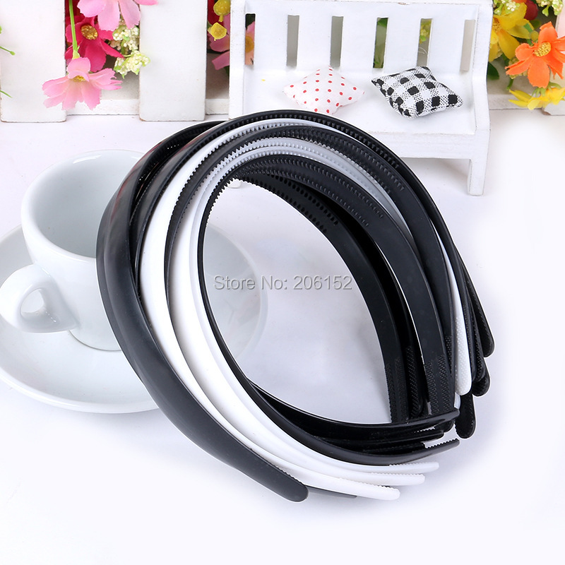 High quality ABS 15mm Black/White Plain Lady Plastic Headband WITHTeeth DIY Resin Headband Hair accessories Headwear купить