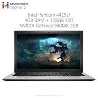 Original Maibenben Xiaomai 5 Gaming Laptop 15.6 inch Windows 10 Home Intel 4415U Dual Core 2.3GHz 4GB RAM 128GB SSD Notebook