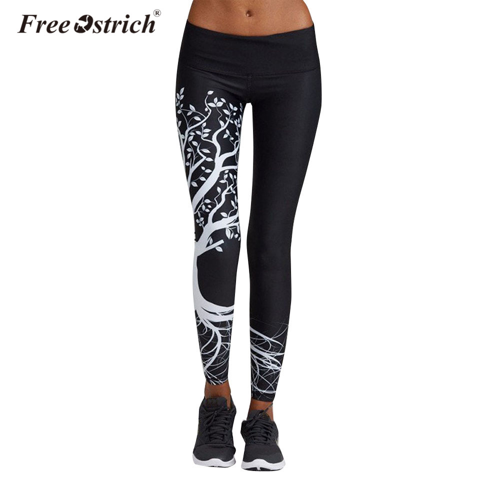 Free Ostrich   Leggings   Women Fashion Patronus Prints High Waist Sexy Girl Pants Casual Jogger Fitness B1140