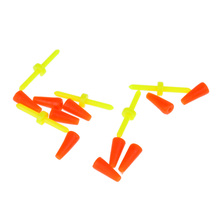 5pcs Fishing Floating Bobber Yellow Plastic Tackle Float buoy For Accessories