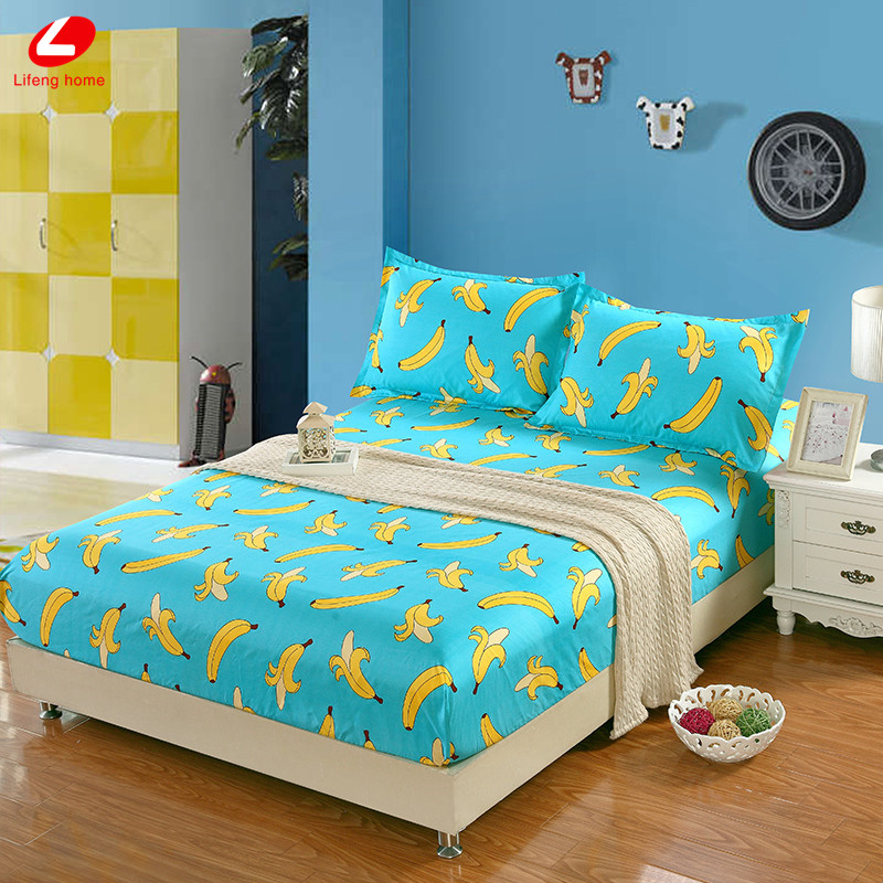 Home textile bed sheet sheet flower mattress cover printing bed sheet elastic rubber bedclothes 180*200cm summer bedspread band 26
