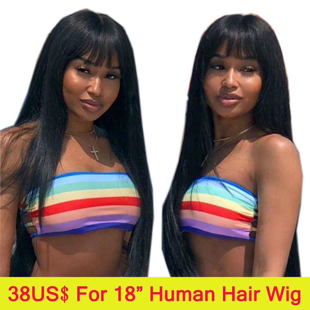 Sapphire Hair Lace Front Human Hair Wigs With Bangs For Women Remy Brazilian Human Hair Straight