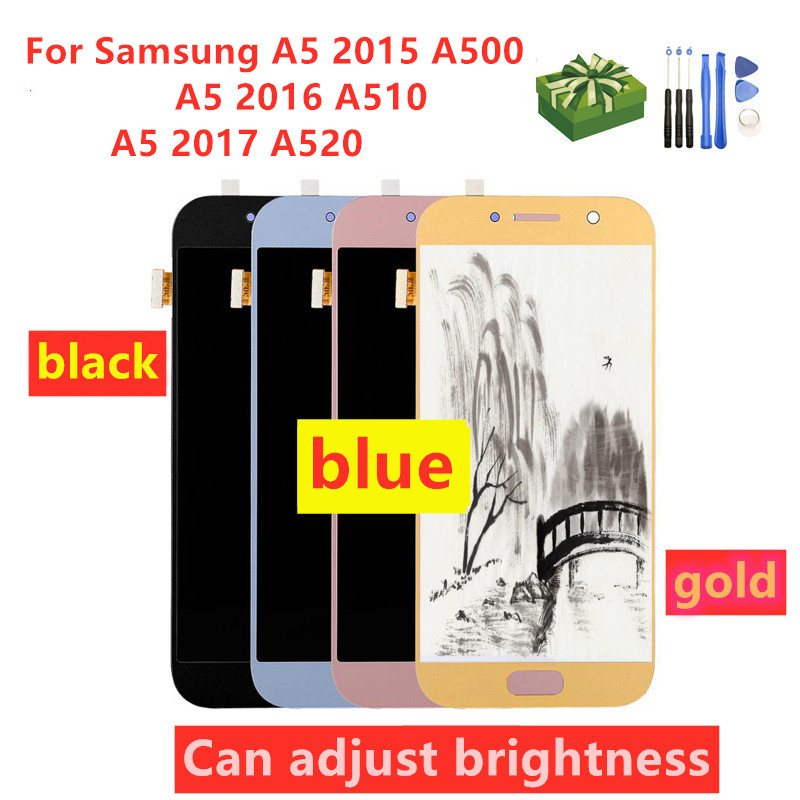 For <font><b>Samsung</b></font> Galaxy A520 A520F SM-A520F <font><b>A5</b></font> 2017 2015 2016 A510 A500 <font><b>LCD</b></font> Display Touch Screen Digitizer Glass Assembly free gifts image