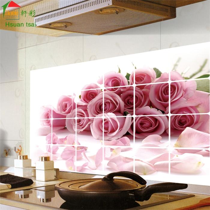 diy rosas cocina de pared de vinilo pegatinas home decor bao impermeable etiqueta etiquetas de la