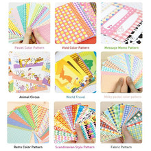 for polaroid Film Skin DIY Photo Frame Border Sticker Decorative Paper Set Decoration Scrapbooking Accessories 9 Available Style(China)